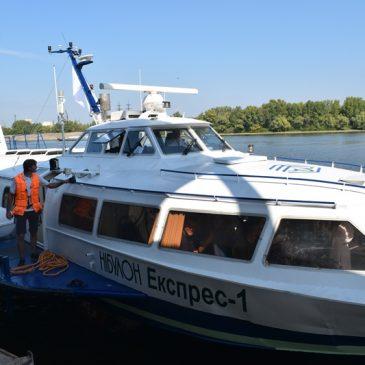 Теплохід «Ракета» здійснив свій перший маршрут до Канева